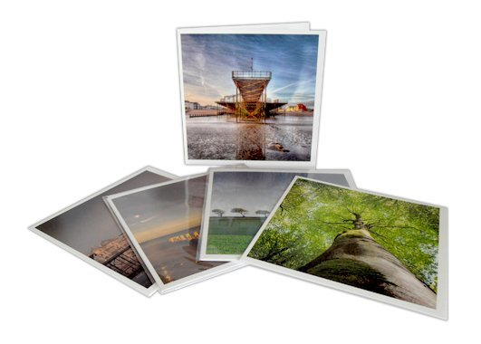 Square greetings cards Printed on Soft Sheen 300gsm card