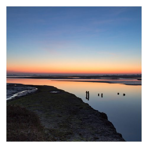 Pagham Harbour Sunset Card