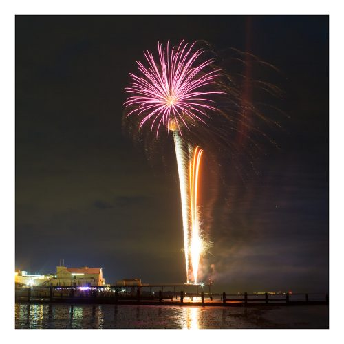 Fireworks Off The Pier Card