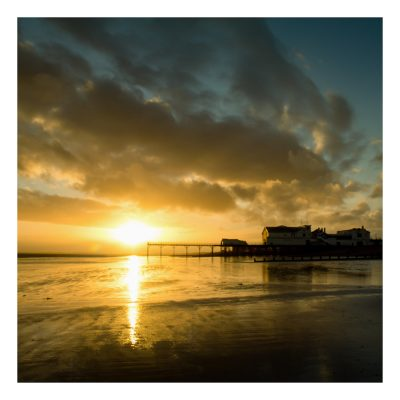 Bognor Regis Beach Sunset Card