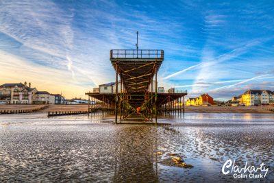 Bognor Regis pier at low tide