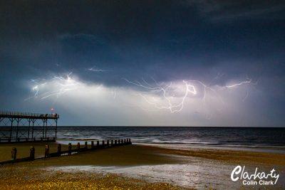 Lightning over the sea at Bognor Regis