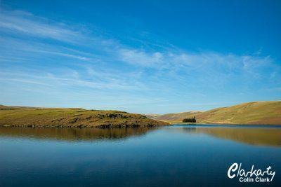 Lake view in Rhayader Wales
