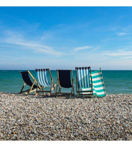 Deck Chairs on Bognor Regis Beach Card